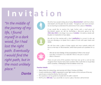 Disconnect Invitation – 25 July
